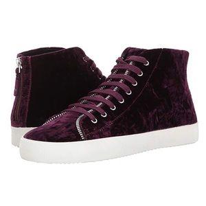 NEW Rebecca Minkoff Zaina Velvet Acai Sneakers